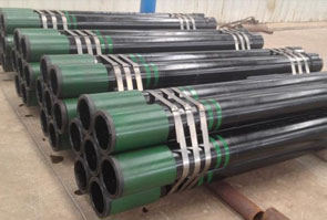 API 5L X52 Pipe packed in MD Exports LLP's stockyard